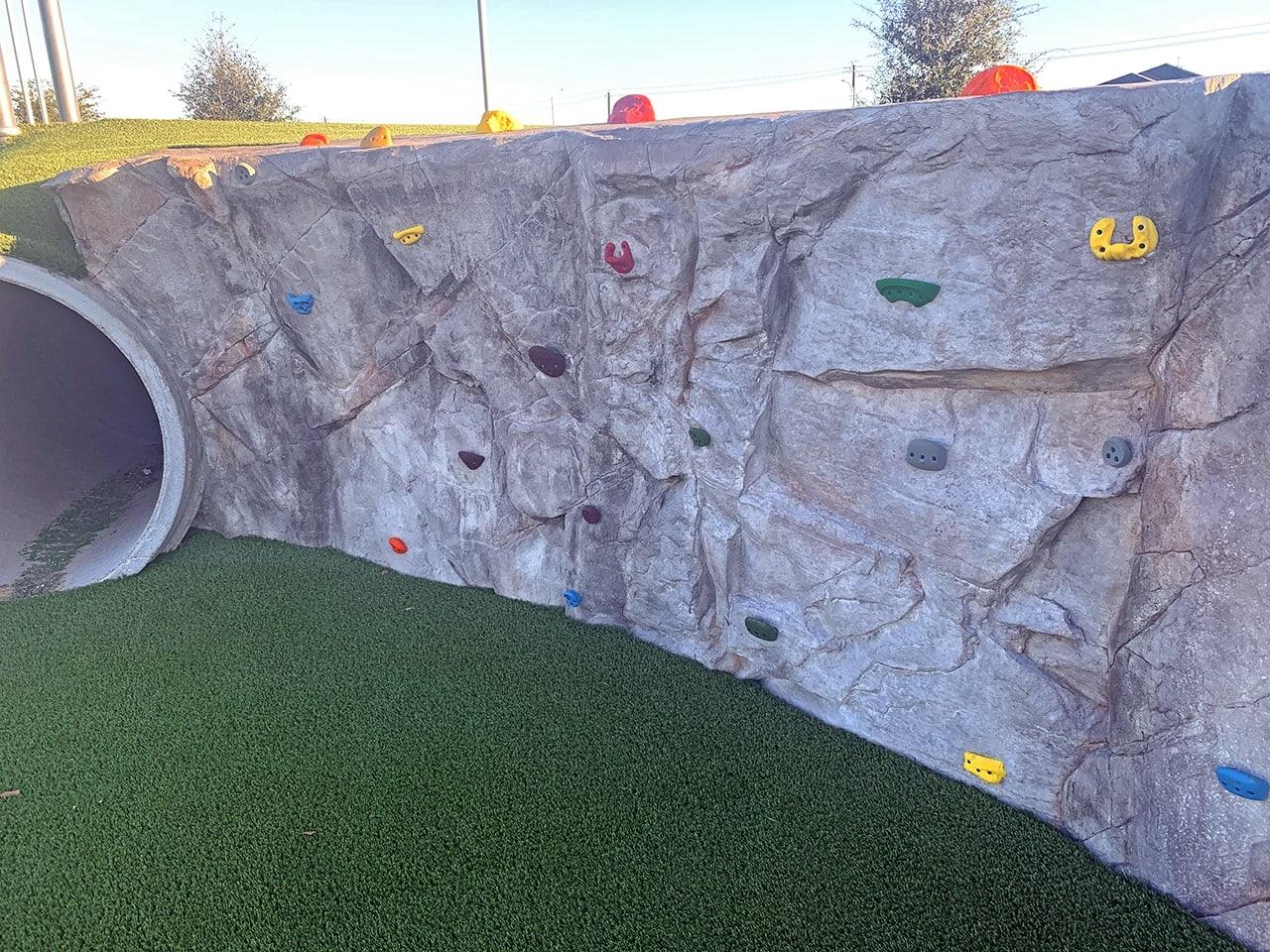 faux rock climbing wall 1
