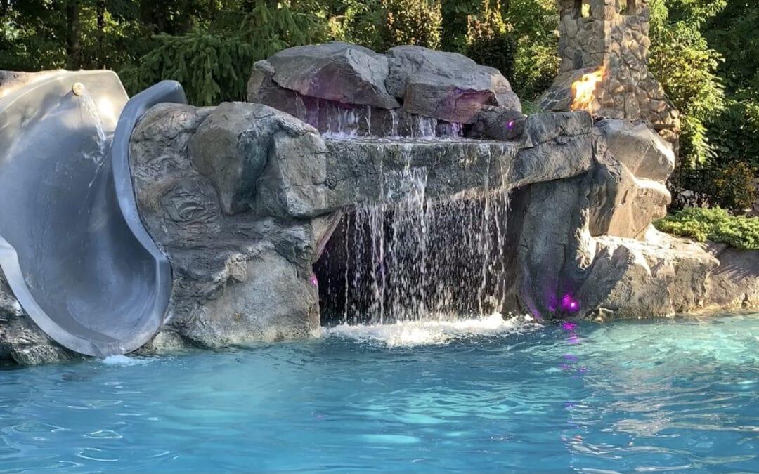 RicoRock Faux Rock Custom Grotto & Water Slide
