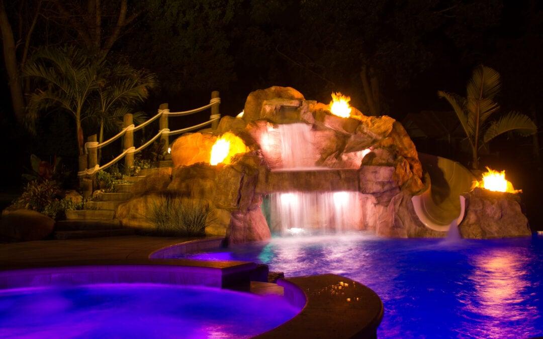 Ricorock Custom Grotto With Steps & Slide Enclosure