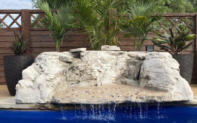 Laguna Beach One-Piece Waterfall