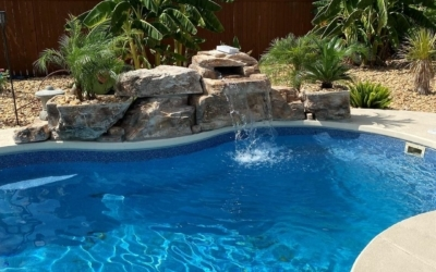 Need waterfall inspiration? Check out this 3 FT Modular Waterfall in Texas